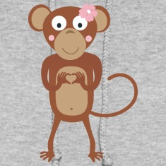 amorous female monkey with flower Hoodies