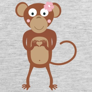 amorous female monkey with flower Sportswear - Men's Premium Tank