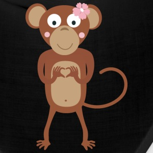 amorous female monkey with flower Caps - Bandana