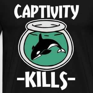 Captivity Kills Save the Orca Whales  - Men's Premium T-Shirt