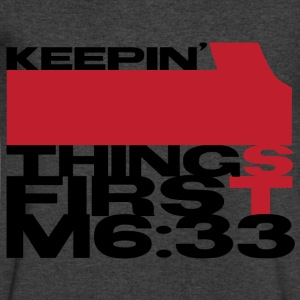Keeping 1st things First - Men's V-Neck T-Shirt by Canvas