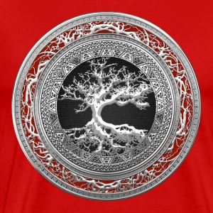 Silver Celtic Tree of Life - Men's Premium T-Shirt