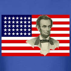 Abraham Lincoln with Civil War Union Flag