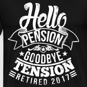 Retirement Pension 2017 T-Shirts - Men's Premium T-Shirt