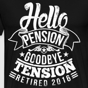 Retirement Pension 2016 T-Shirts - Men's Premium T-Shirt