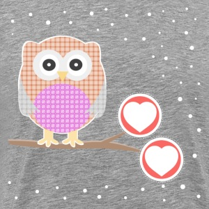 Cartoon owl bird children39s drawings T-Shirts - Men's Premium T-Shirt