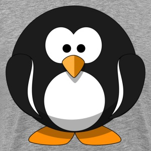 Cute round cartoon penguin T-Shirts - Men's Premium T-Shirt