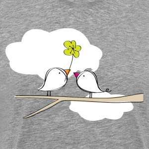 Singing birds in love T-Shirts - Men's Premium T-Shirt