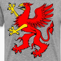 Red griffin clip art T-Shirts