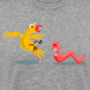 Yellow bird early eat scared the Kablam T-Shirts - Men's Premium T-Shirt