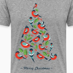 Birds make Christmas tree with holy leaf T-Shirts