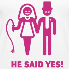 He Said Yes! (Wedding Vow / Bride / Whip) Tanks