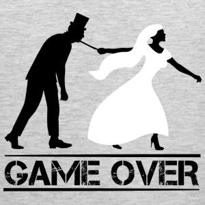 game over bride and groom wedding stag night Sportswear - Men's Premium Tank