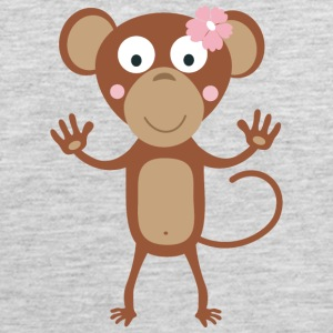 female monkey with flower Sportswear - Men's Premium Tank