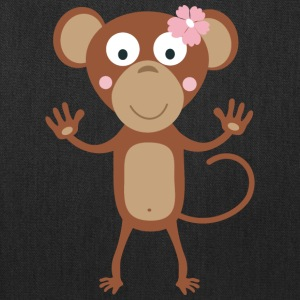 female monkey with flower Bags & backpacks - Tote Bag