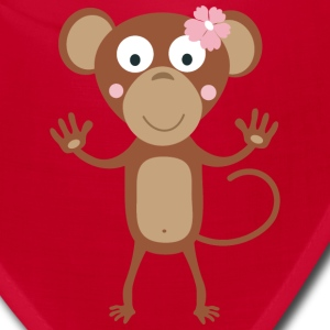female monkey with flower Caps - Bandana