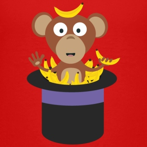sweet monkey with bananas in hat Kids' Shirts - Kids' Premium T-Shirt