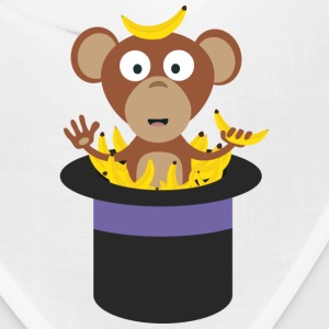 sweet monkey with bananas in hat Caps - Bandana