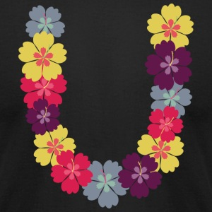 Hawaiian flower chain T-Shirts - Men's T-Shirt by American Apparel