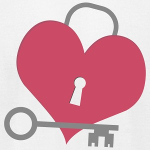 heart with lock and key T-Shirts - Men's T-Shirt by American Apparel