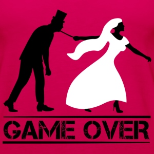 game over bride and groom wedding stag night Tanks - Women's Premium Tank Top