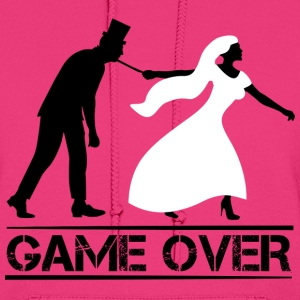 game over bride and groom wedding stag night Hoodies - Women's Hoodie