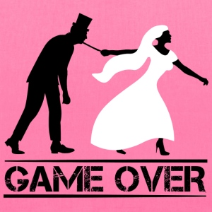 game over bride and groom wedding stag night Bags & backpacks - Tote Bag