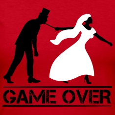 game over bride and groom wedding stag night Long Sleeve Shirts