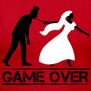 game over bride and groom wedding stag night Long Sleeve Shirts - Women's Long Sleeve Jersey T-Shirt