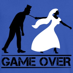 game over bride and groom wedding stag night T-Shirts - Men's V-Neck T-Shirt by Canvas