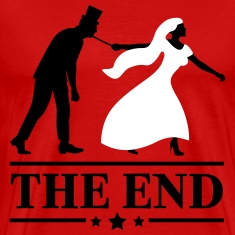 game over bride and groom wedding stag night end T-Shirts