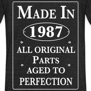 made in 1987 birthday T-Shirts - Unisex Tri-Blend T-Shirt by American Apparel