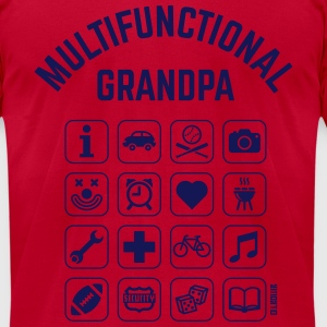 Multifunctional Grandpa (16 Icons) T-Shirts - Men's T-Shirt by American Apparel