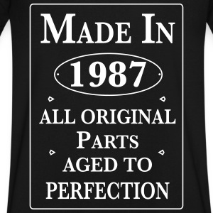 made in 1987 birthday T-Shirts - Men's V-Neck T-Shirt by Canvas