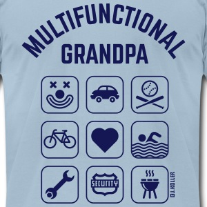 Multifunctional Grandpa (9 Icons) T-Shirts - Men's T-Shirt by American Apparel