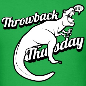 Throwback Thursday T-Rex - Men's T-Shirt