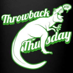 Throwback Thursday T-Rex - Full Color Mug