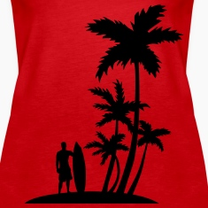 Surfer and palm trees Tanks