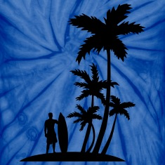 Surfer and palm trees T-Shirts