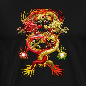 Brotherhood of the Snake - Red and Yellow Dragons - Men's Premium T-Shirt