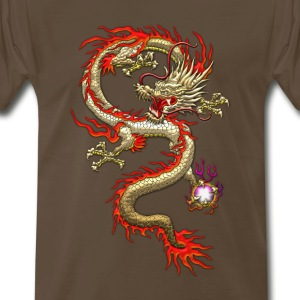 Golden Chinese Dragon - Men's Premium T-Shirt
