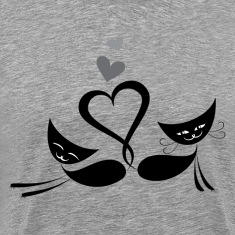 Cats in love design T-Shirts