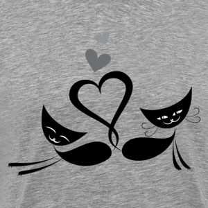 Cats in love design T-Shirts - Men's Premium T-Shirt