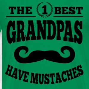 Mustached Grandpa T-Shirts - Men's Premium T-Shirt