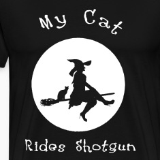 Cat Rides Shotgun shirt