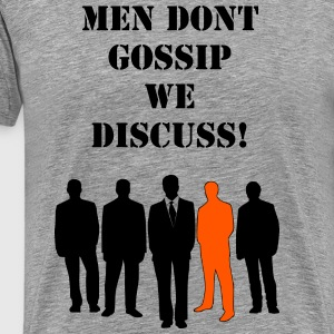 Gossiping Men - Men's Premium T-Shirt