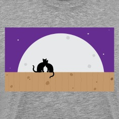 Moon cats graphic T-Shirts