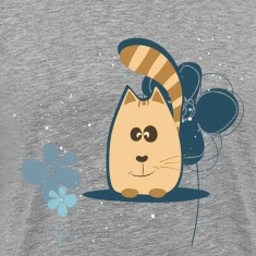 Cartoon cat background T-Shirts