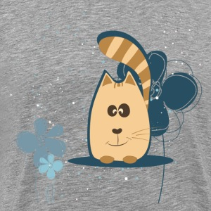 Cartoon cat background T-Shirts - Men's Premium T-Shirt