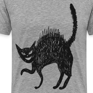 Line art painted cat T-Shirts - Men's Premium T-Shirt